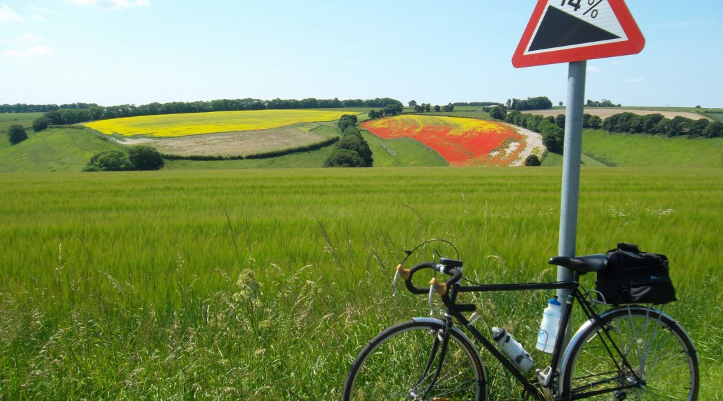 Yorkshire Wolds Cycling Huggate Road Thixendale